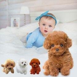 Cute Simulation Puppy Plush Toys Realistic Teddy Dog Lucky, Handmade Realistic Figure Toy Dog Plush Stuffed Anim Soft kids Toys