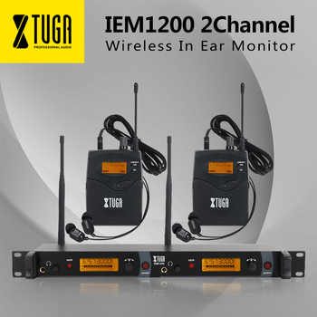 XTUGA IEM1200 In Ear Monitor Wireless System SR2050 Double transmitter Monitoring Professional for Stage Performance wireless in ear monitor professional stage monitoring system 3 bodypack receiver cordless 1 usb transmitter monitors in earphone