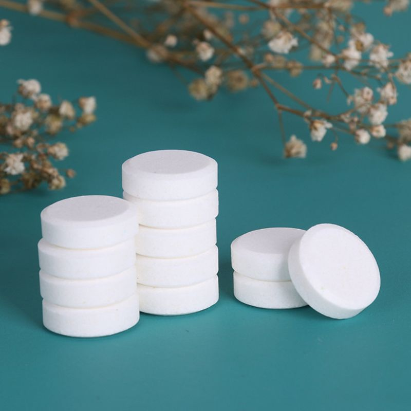 30Pcs DIY Natural Foaming Hand Sanitizer Effervescent Tablets Hand Wash Foam Instant Antibacterial Disinfectant Tablets