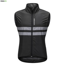 Cycling-Vest Top-Cycle-Gilet Wind-Coat Road-Bike Sleeveless Jersey Reflective WOSAWE