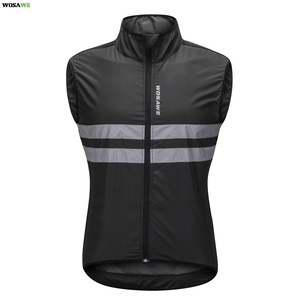 WOSAWE Reflective Cycling Vest Windproof MTB Road Bike Bicycle Sleeveless Jersey Top Cycle Gilet ciclismo Wind Coat
