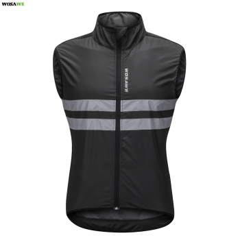 WOSAWE Reflective Cycling Vest Windproof MTB Road Bike Bicycle Sleeveless Jersey Top Cycle Gilet ciclismo Wind Coat ultra light hooded bicycle jacket bike windproof coat road mtb aero cycling wind coat men clothing quick dry jersey thin jackets