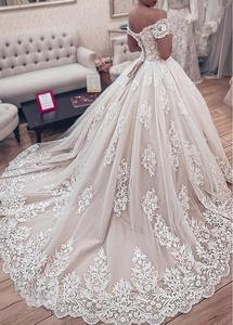 Image 3 - JIERUIZE robe de mariée en dentelle, robes de mariage luxueuses, avec des épaules dénudées, en amoureux