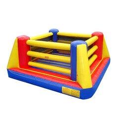 4 m/5 m/6 m inflable de lucha libre saltar anillos de boxeo hinchable casa rebote divertido juego deportivo de entretenimiento para los niños adultos