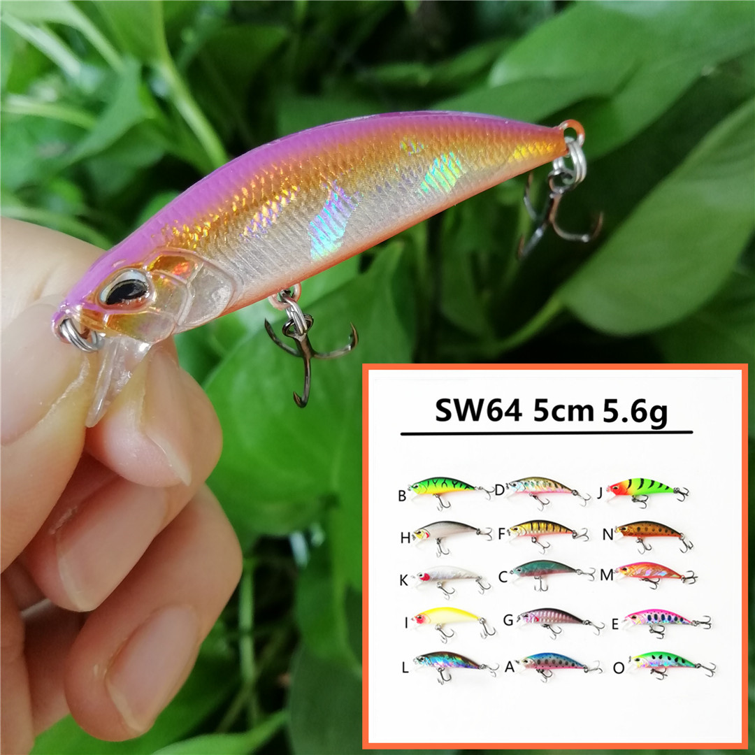 Swolfy new mini Fishing Lure 50mm 5.6g Sinking Minnow Wobbler Hard Lure artificial Bait fishing Tackle