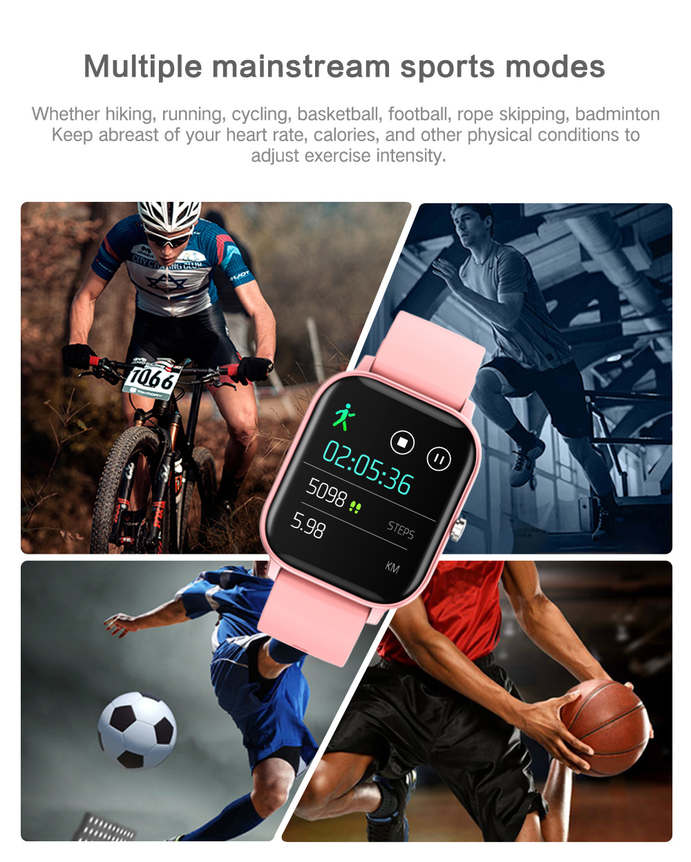MELANDA 1.4 inch Smart Watch Men Full Touch Fitness Tracker Blood Pressure Smart Clock Women GTS Smartwatch for Xiaomi relogio