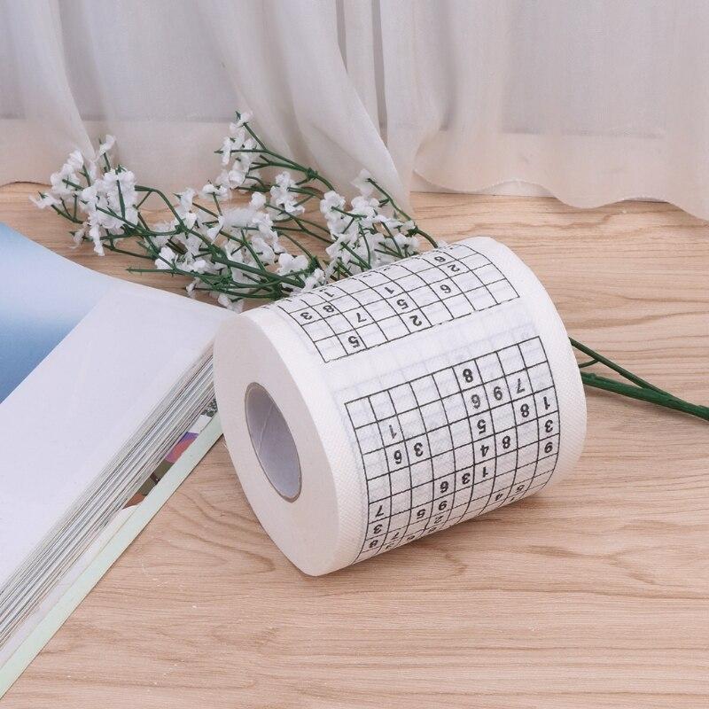 Прочная Sudoku мягкая бумага с рисунком тканевая туалетная бумага забавная игра забавные практичные инструменты для жизни