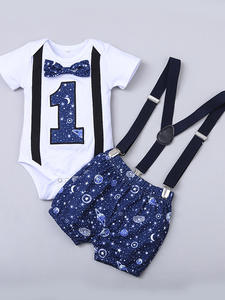 Costume Outfits Shorts Romper Straps Gentleman Toddler Baby-Boy Boys One-Year-Birthday