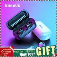 Baseus W01 TWS słuchawki Bluetooth słuchawki bezprzewodowe słuchawki Bluetooth 5.0 Stereo Bass słuchawki bezprzewodowe słuchawki z mikrofonem HD do telefonu