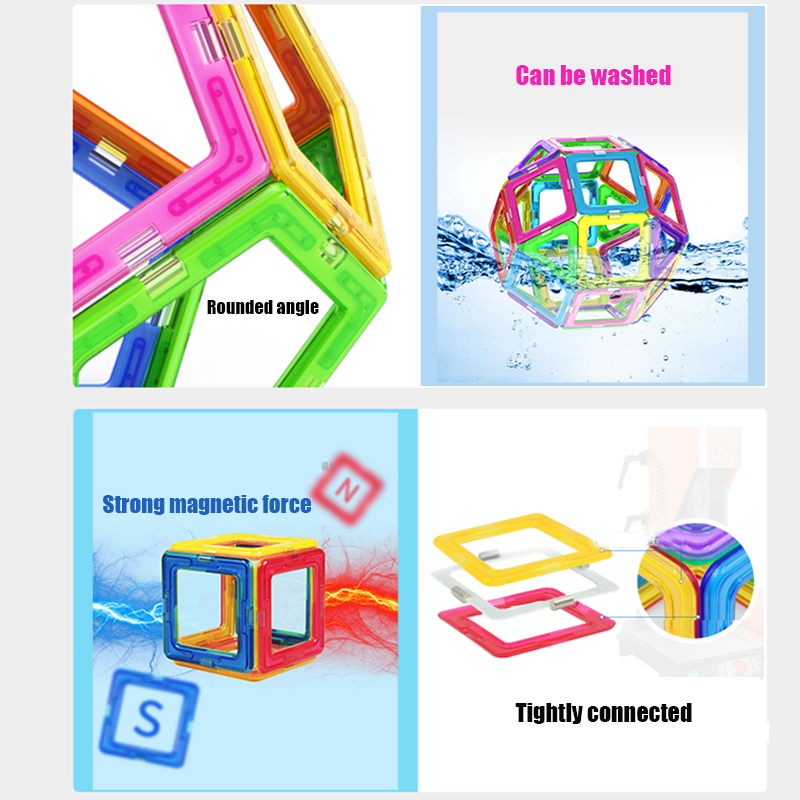 Mini Magnetic Designer Construction Set Model & Building Toy Plastic Magnetic Blocks Educational Toys For Kids Gifts