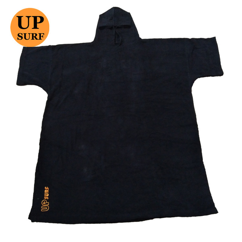 Surf Poncho Wetsuit Changing Robe Poncho With Hood For Swim, Beach Sports 320GSM Terry Cloth 100% Cotton Oversize Adult