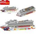 4950 шт. 7800 роскошный лайнер для круизного лайнера, большая белая лодка, «сделай сам», Алмазный Мини-конструктор, микро-конструктор, сборная иг...