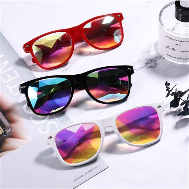 CHUN Kaleidoscope Glasses Women Rave Festival Sunglasses Men Holographic Glasses Colorful Celebrity Party Eyewear M139