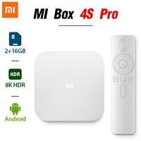 XIAOMI funda para TV MI 4S Pro 1,9 GHz Amlogic Quad-core 5G WiFi BT Android 8K HDR inteligente Streaming Media Player de la versión en chino