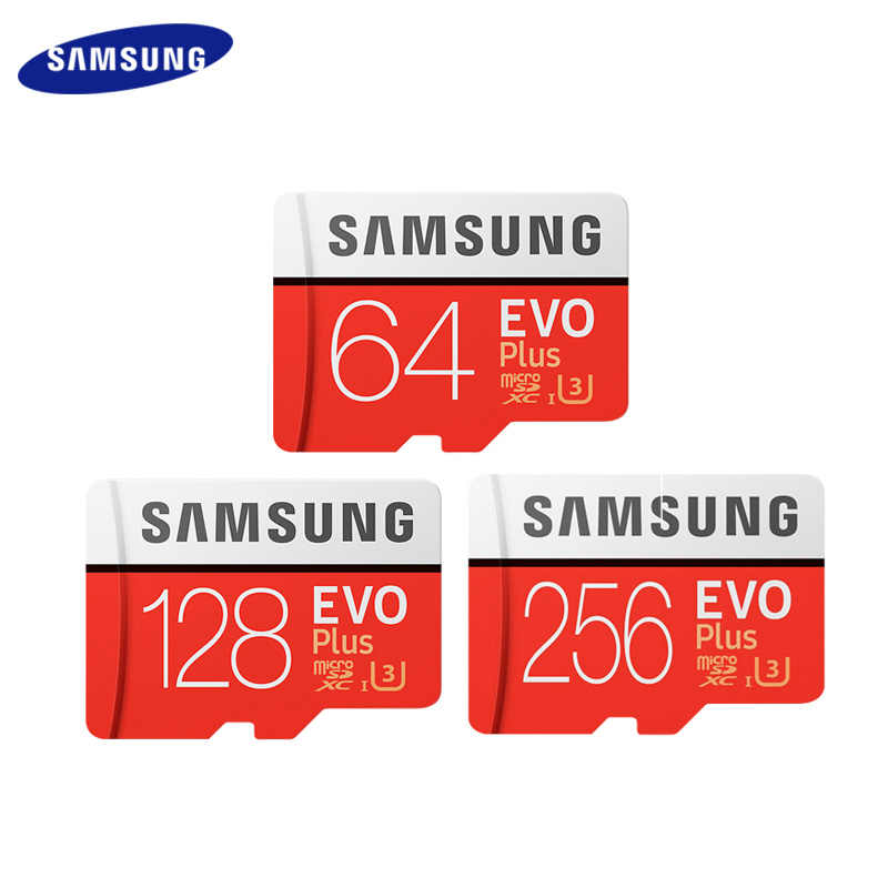 100% Originele Samsung Geheugenkaart 256Gb 512Gb High Speed 100 Mb/s Micro Sd Class 10 U3 UHS-I Evo plus 128G 64Gb 32Gb Tf Card