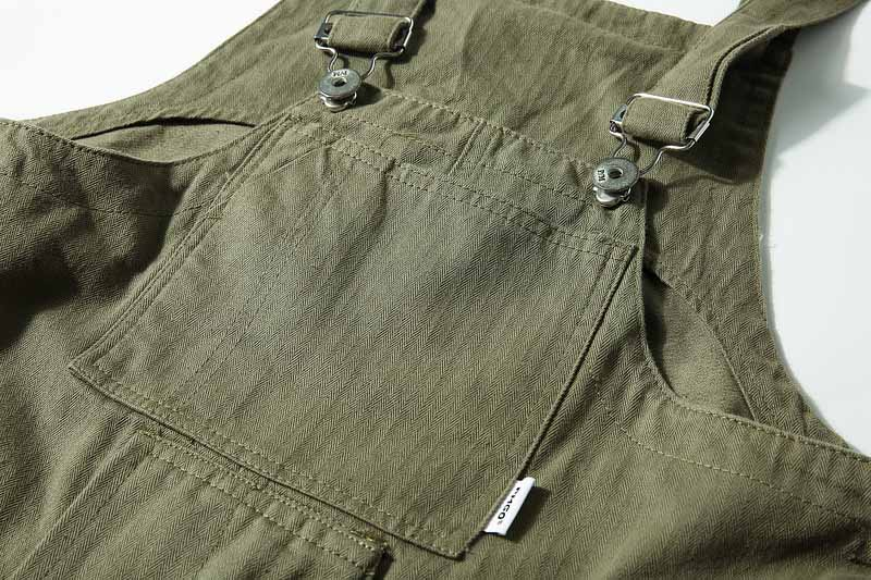 KIOVNO Fashion Men Hip Hop Bib Overalls Multi Pockets Cargo Work Streetwear Jumpsuits For Male Loose Pants (3)