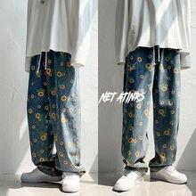 Hip Hop Men's Graphic Printed Jeans Woman 2020 Autumn Fashio
