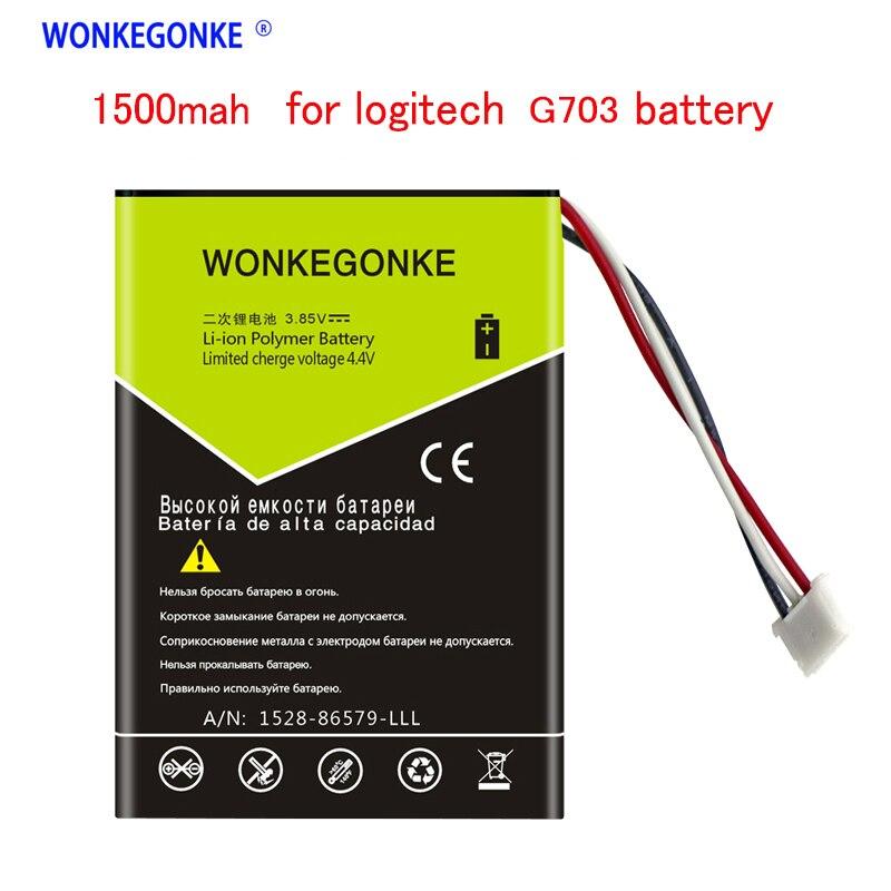 WONKEGONKE 1500mah  for Logitech G703 battery Mobile Phone Batteries     - title=