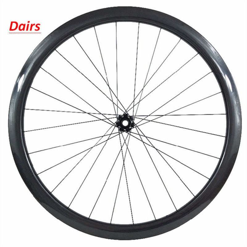 700c bike wheel 100x12 50x23mm clincher front wheel powerway CT31 Straight pull central lock disc brake bicycle carbon wheels