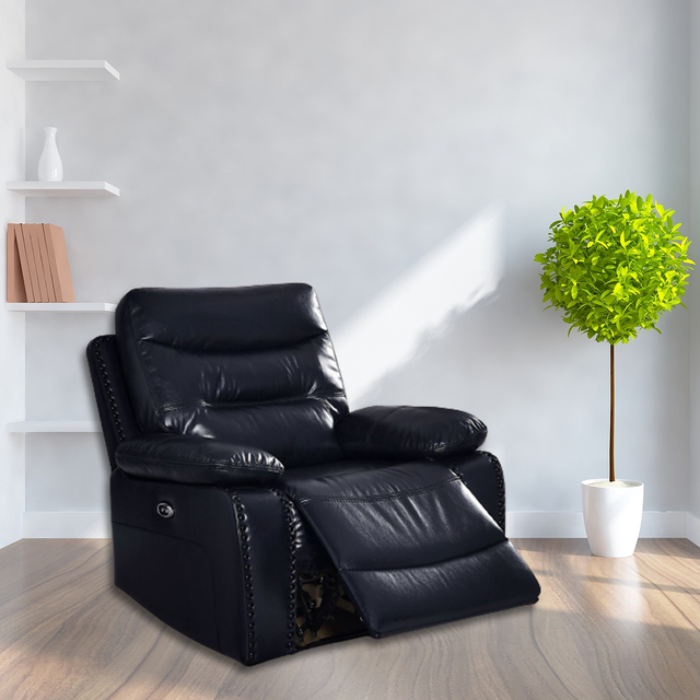Antique European Creative Leather  Recliner Chair  4