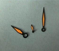 Nowy pomarańczowy GEERVO zegarek świetlny ręce na ETA 6497/ETA6498 zegarek z czujnikiem ruchu akcesoria pj05-08a