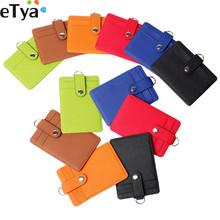 eTya ID Credit Card Cover Bags Fashion Unisex Girl Student Money Bank Bus Holder Wallet Purse With String