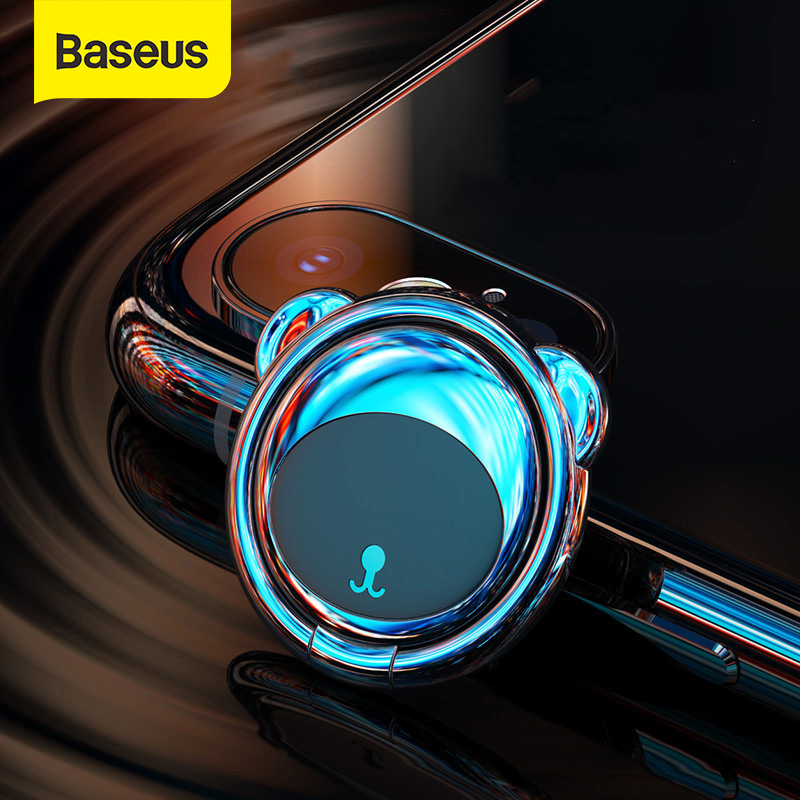 Baseus Metal Finger Ring Holder For IPhone Samsung Mobile Phone Ring 360 Degree Mount Holder Stand For Magnetic Car Phone Holder