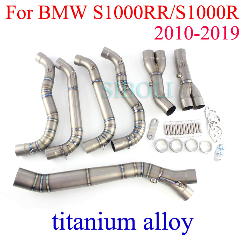 S1000RR S1000R Motorcycle Exhaust 60mm Inlet Titanium Alloy Full Systems 2010 2011 2012 2013 2014 2015 2016 2017 2018 2019|Exhaust & Exhaust Systems| |  - title=