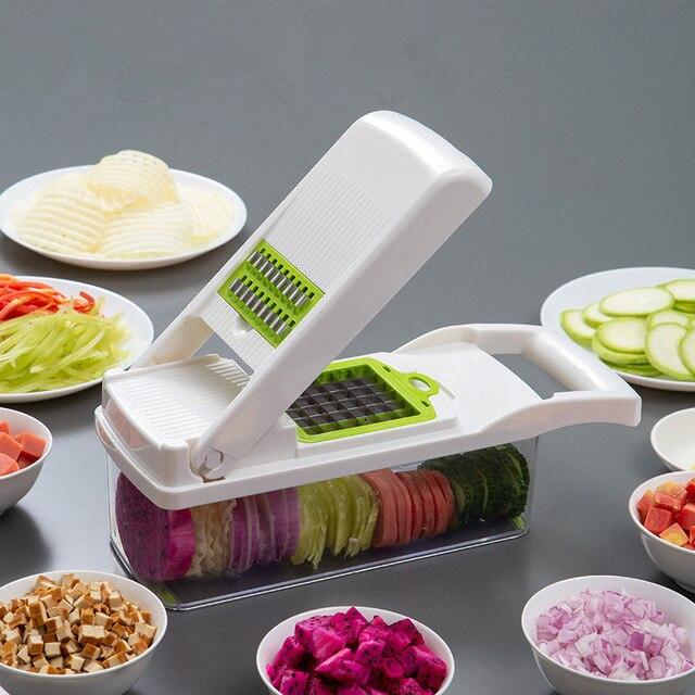 Cortador multifuncional, cortador multifuncional para cozinha, ralador, descascador e ralador, de vegetais, batata, cenoura, frutas, acessórios de cozinha 3