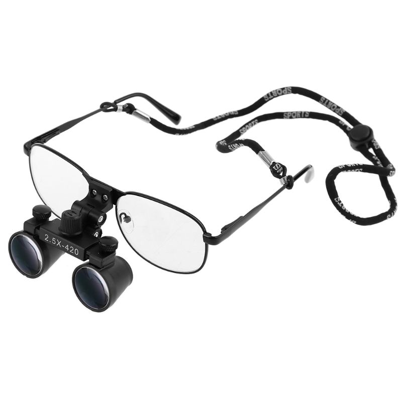 2.5X 3.5X Dental Loupe Surgery Surgical Binocular Magnifier Medical Operation Loupes With Eyeglasses Goggle Metal Frame