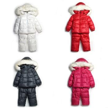 2019 new Winter children clothing sets girls Warm parka down jacket for baby boys clothes children's coat snow wear kids suit 1