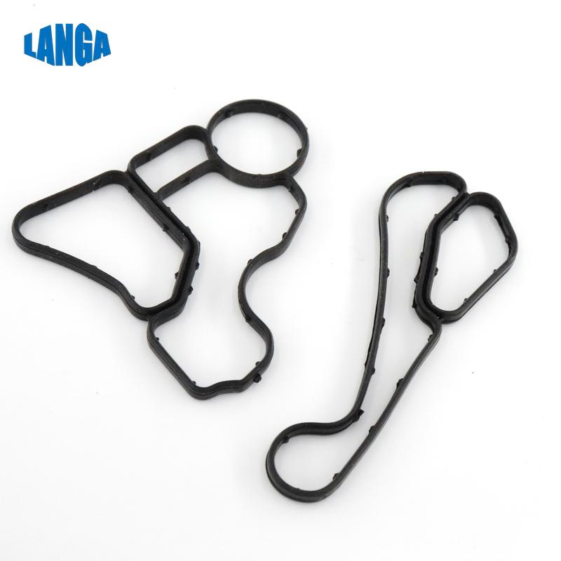 For <font><b>BMW</b></font> E60 <font><b>E90</b></font> <font><b>E90</b></font> E91 KIT <font><b>Engine</b></font> Oil Filter & Cooler Housing Gasket Seal OE: 11428637820 11427525335 / 11428637821 11427537293 image