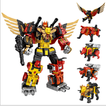 цена на WEIJIANG 5in1 Predaking - Divebomb Rampage Headstrong G1 Transformation Oversize War Eagle Movie Action Figure Model Robot Toys