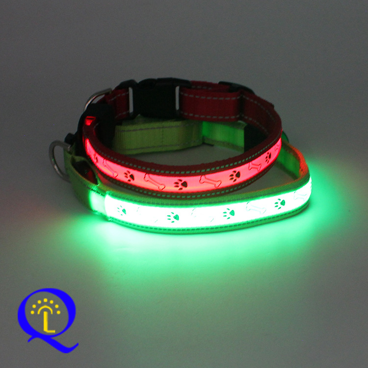 Turn-On New Style USB Charging Luminous Collar LED Night Light Gu Tou Xing Chargeable Neck Ring Pet Dog Neck Ring