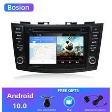"""Leitor de dvd dos multimédios do carro de bosion 7 """"android 10.0 gps para o rádio video estereofônico do carro do autoradio da navegação de suzuki swift 2011 2015 gps"""