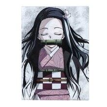 Storage-Bag Paper Art-Book Photo-File-Folder Office School Anime PVC Demon Slayer Kamado