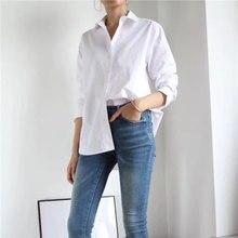 Damska koszula wiosna lato prosta bluzka nowa w stylu Boyfriend klasyczna sylwetka jednolite bluzki
