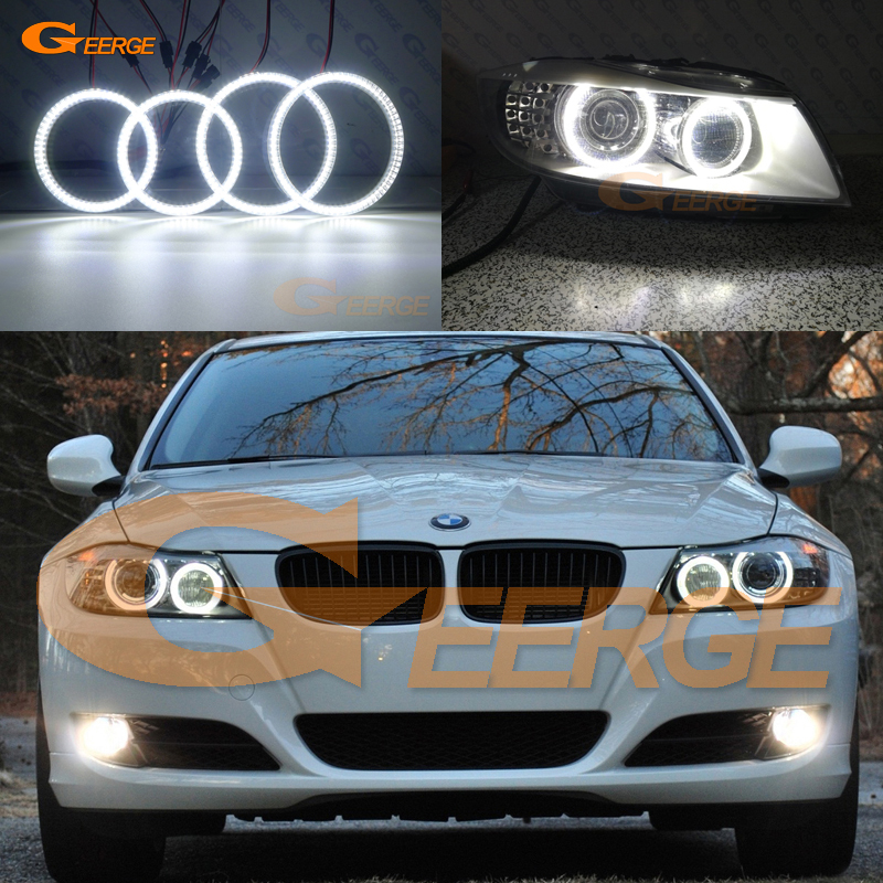 For BMW 3 Series E91 E90 LCI 2009-2012 Excellent Ultra bright illumination smd led Angel Eyes halo rings DRL Car styling image