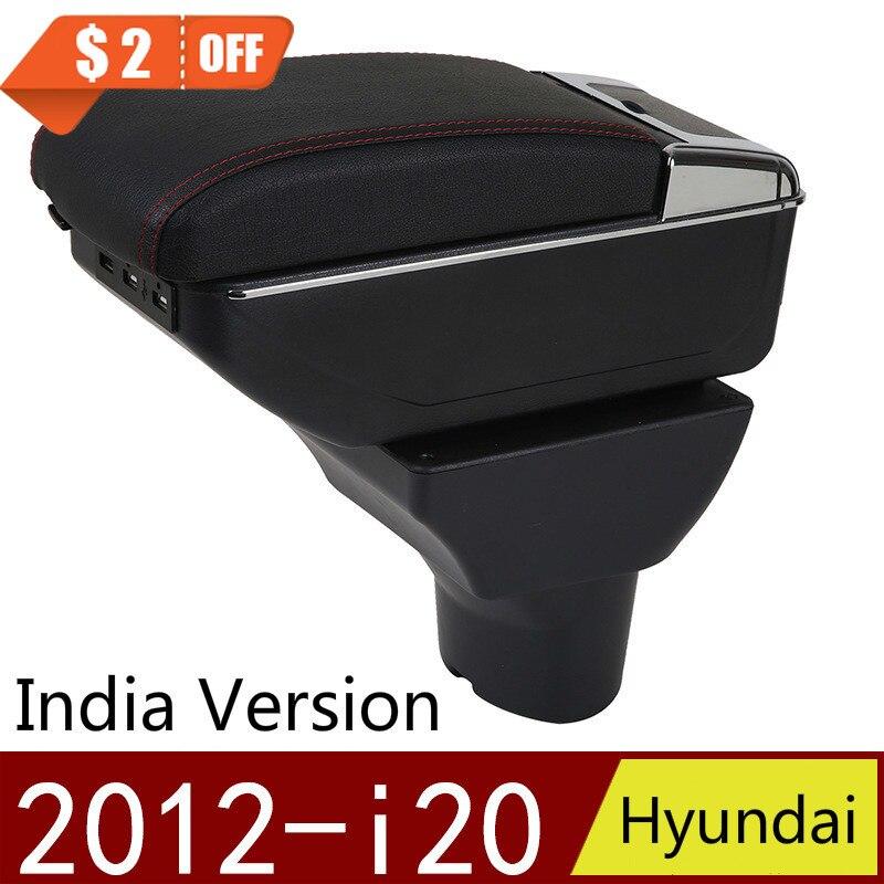 Para Hyundai I20 2012-caja de almacenamiento con reposabrazos, contenedor de almacenamiento Central para coche