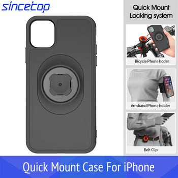 Bicycle Phone Holder with Quick Mount Car Holder Belt Clip Case for iphone 11 pro XsMax 8 Plus 7 6 6s 5s SE Bike Mount