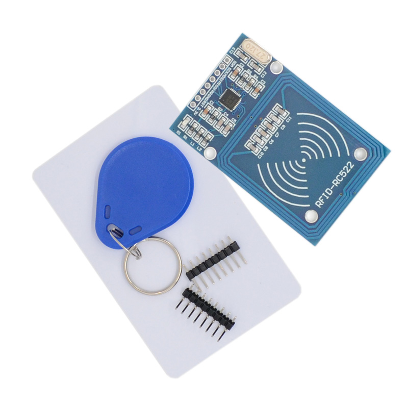 5pcs RFID-RC522 MFRC-522 RC522 Mfrc 522 RFID RF IC Card Inductive Module With Free S50 Fudan Card Key Chain MFRC522 For Arduino