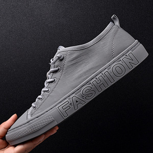 Image 1 - Summer Canvas Shoes Men Fashion Sneakers Hot Selling Vulcanized Canvas Shoes Tenis Feminino Plus Size 38 43 Gray Khaki