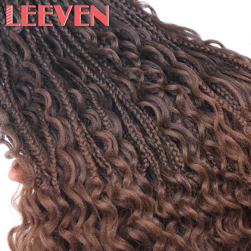 Leeven Messy Goddess Box Braids Hair Synthetic Crochet