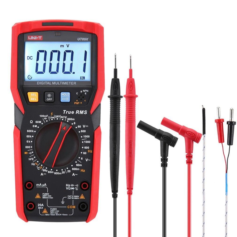 UNI-T UT89X True RMS Digital Multimeter DC/AC Current Voltage Ammeter Voltmeter NCV/Capacitor/Triode/Temperature Tester