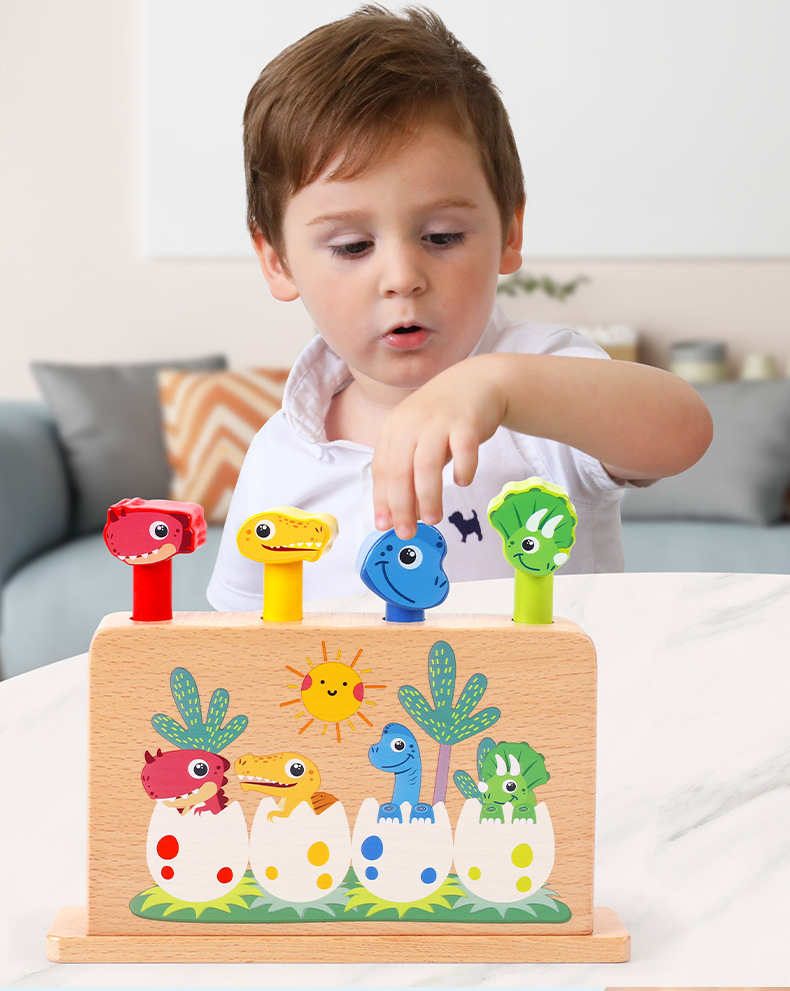 Montessori cedo brinquedos educativos dinossauro jumping primavera