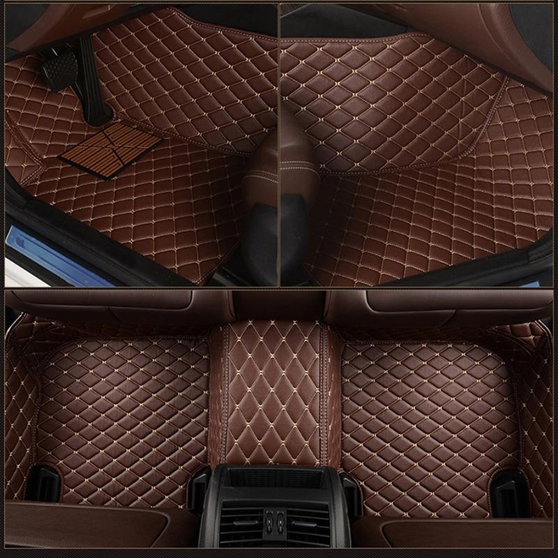 Кожаный Автомобильный напольный коврик на заказ для toyota Land Cruiser Prado Highlander Crown Reiz Wing FJ Cruiser mat alfombra Напольные коврики      АлиЭкспресс