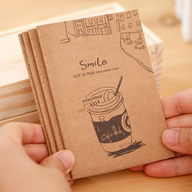 1pcsKraft Paper Notepad Novelty Stationery Notebook Student Cute Schedule Notebooks Children Cartoon Office And School Supplies