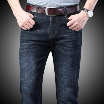 Jean Homme Men Jeans Skinny Slim Fit Black Blue Denim Spijkerbroeken Heren Biker Stretch Pants Trousers Casual Distressed