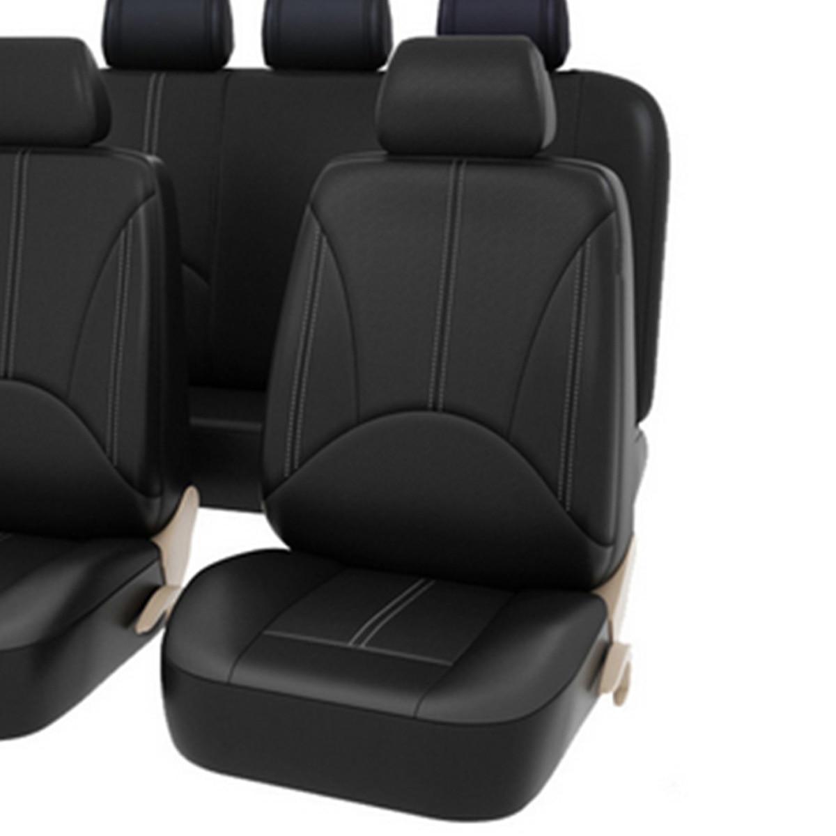 Asiento de coche cubre Ajuste Suzuki Ignis-juego completo de Cuero Sintético Negro