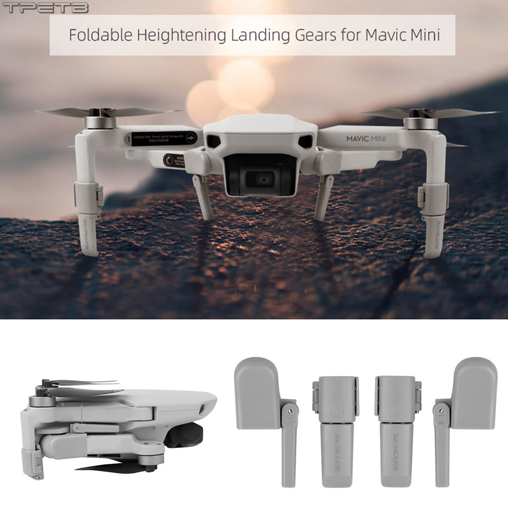 Collapsible Landing Gear Leg For Mavic Mini Skid Heightened Tripod Damping Stabilizers Leg For DJI Mavic Mini Accessories